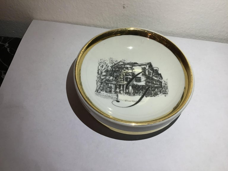 Fornasetti Ashtray Porcelain 1950 Italy For Sale 2