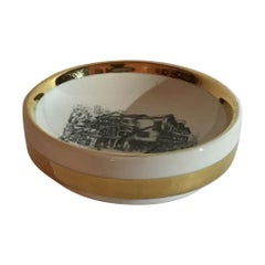 Fornasetti Ashtray Porcelain 1950 Italy