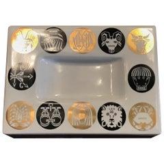 Fornasetti Ashtray Zodiac Ceramic, 1950