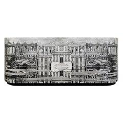 Fornasetti Buffet Citta' Che Si Rispecchia Cabinet Wood Handcrafted Black/White