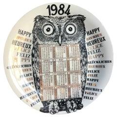 """Fornasetti """"Calendar Plate n.17"""" Porcelain 1984 Italy"""
