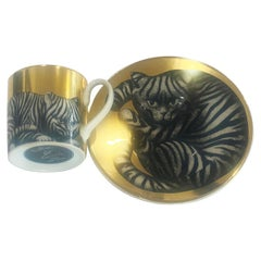 Fornasetti Cat Cup and Saucer by Rosenthal
