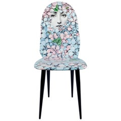 Fornasetti Chair Linangea Hydrangea Hand Colored Wood