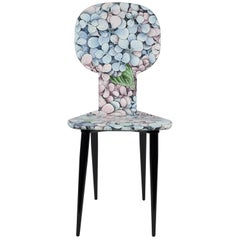 Fornasetti Chair Ortensia Hydrangea Hand-Colored Wood