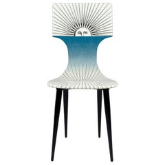 Fornasetti Chair Sole Celeste Sun Hand Painted Wood