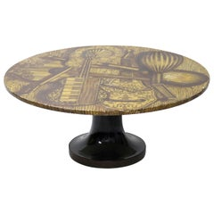 Fornasetti Coffee Table Strumenti Musicali circa 1960s Musical Instruments