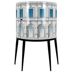Fornasetti Consolle Architettura Celeste Architectural Motif Handcrafted Wood