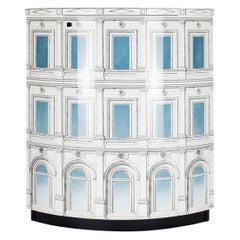 Fornasetti Corner Cabinet Architettura Celeste Architectural Motif Wood