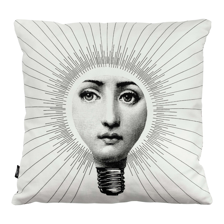 Fornasetti Cushion Abbaglio from the Series Tema e Variazioni Cotton