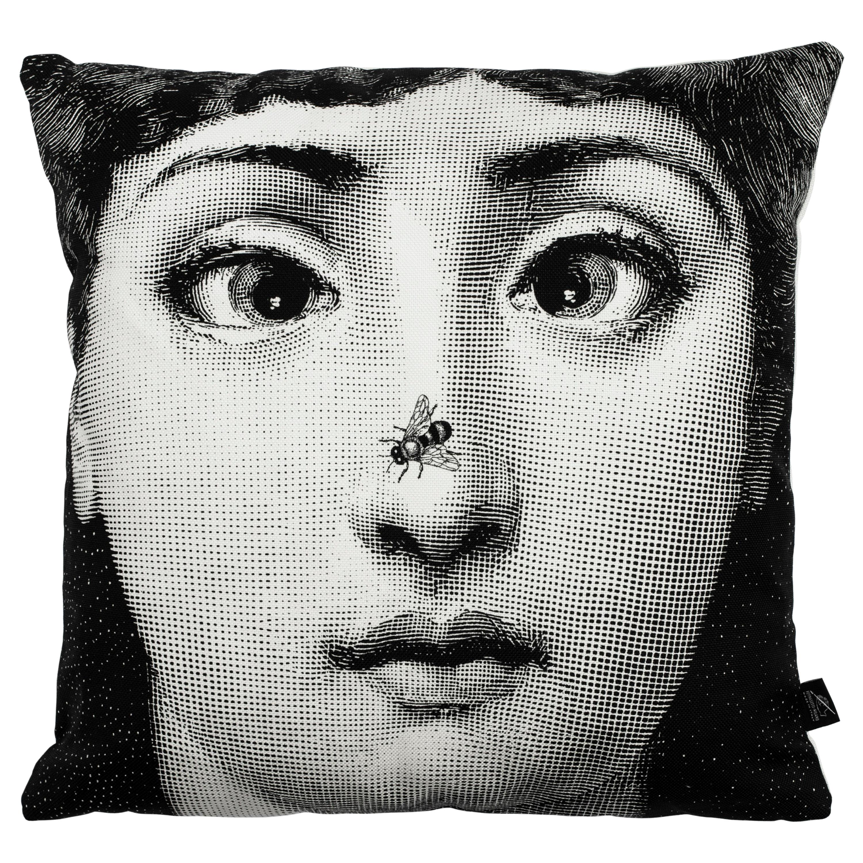 Fornasetti Cushion Ape Bee from the Series Tema e Variazioni Cotton