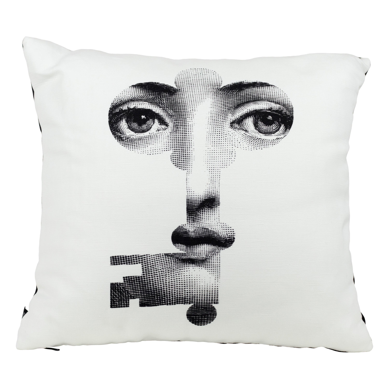 Fornasetti Cushion Chiave Key from the Series Tema e Variazioni Cotton