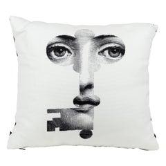Fornasetti Cushion Chiave Key from the Series Tema e Variazioni Cotton