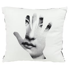 Fornasetti Cushion Mano Hand from the Series Tema e Variazioni Cotton