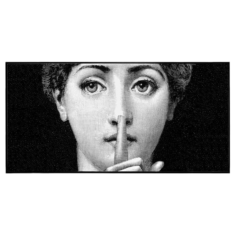 Fornasetti Decorative Panel Silenzio from the Series Tema e Variazioni