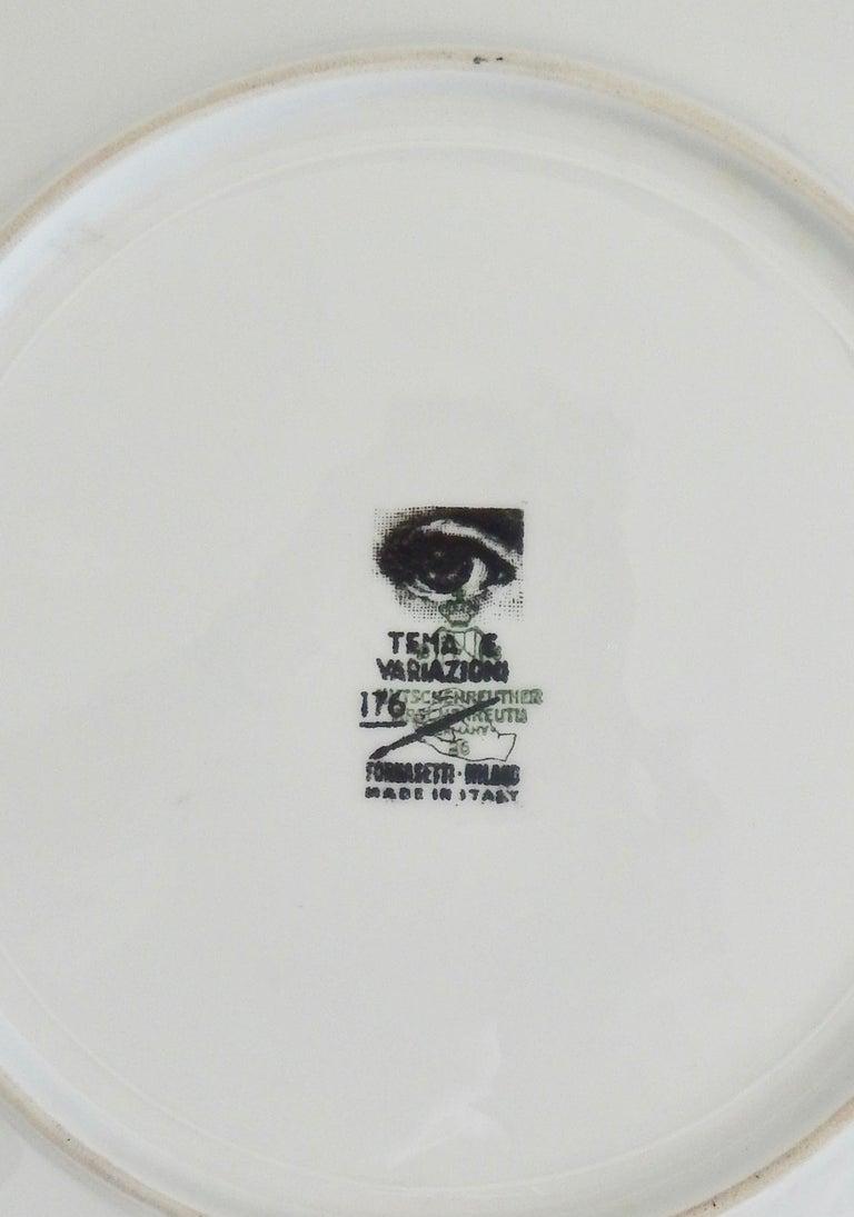 Fornasetti Face Plate, Tema e Variazioni, N116 In Good Condition For Sale In Winnetka, IL