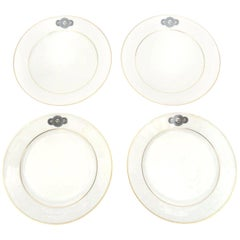 Fornasetti for Rosenthal Porcelain Gilded Medusa Desert and or Salad Plates