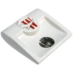 Fornasetti for Winston Ashtray or Tray, Ceramic, Italy, 1980s