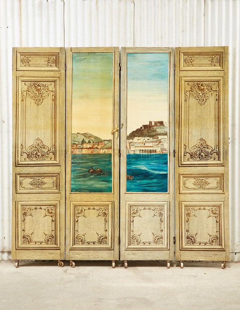 Fornasetti Four Panel Screen Armadio Aperto Open Cabinet  For Sale 9