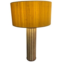 Fornasetti Italian Midcentury 1960s Yellow Metal Table Lamp