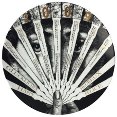 Fornasetti Limited Edition Ceramic Calendar Plate for 2009  No. 413/700