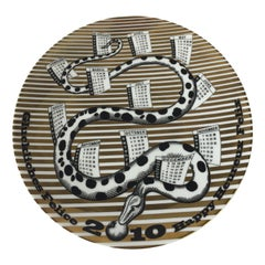 Fornasetti Limited Edition Ceramic Calendar Plate for 2010 No 8/700