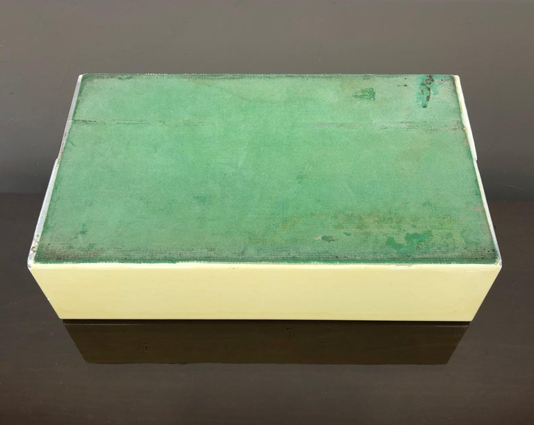 Fornasetti Mid-Century Modern Card Box, 1950s, Metal and Wood, Italy For Sale 3