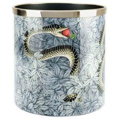 Fornasetti Paper Basket Peccato Orginale Original Sin Hand Colored Metal Brass