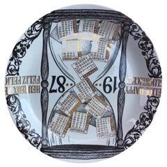 """Fornasetti """"Plate Calendar n 20"""" Porcelain, 1987, Italy"""