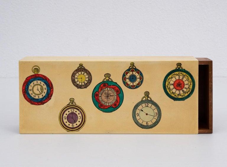 Italian Fornasetti Pocket Watches Design Box For Sale