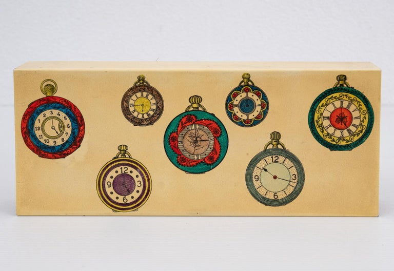 Fornasetti Pocket Watches Design Box In Fair Condition For Sale In Fingest, Oxfordshire