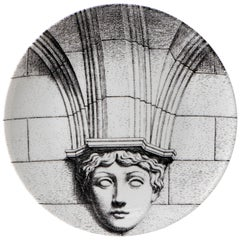 """Fornasetti Porcelain """"Themes and Variations"""" Plate No 266, Italy circa 1990"""