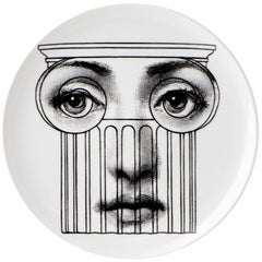 """Fornasetti Porcelain """"Themes and Variations"""" Plate No 278, Italy, circa 1990"""