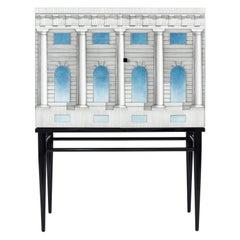 Fornasetti Raised Small Sideboard Cabinet Architettura Celeste Architectural