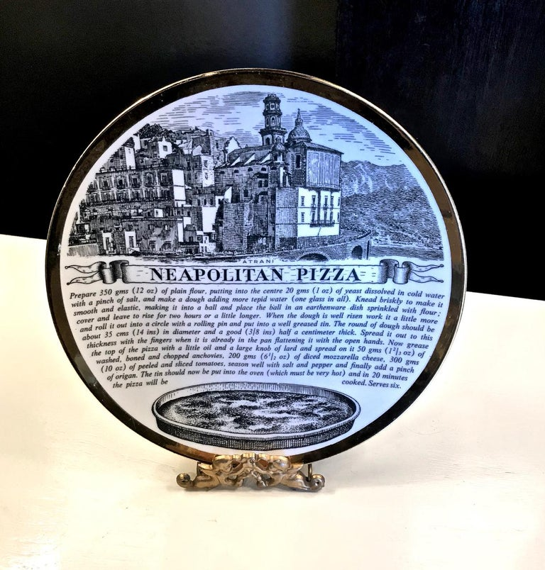 Porcelain Fornasetti Recipe Plates, Set of Eight For Sale