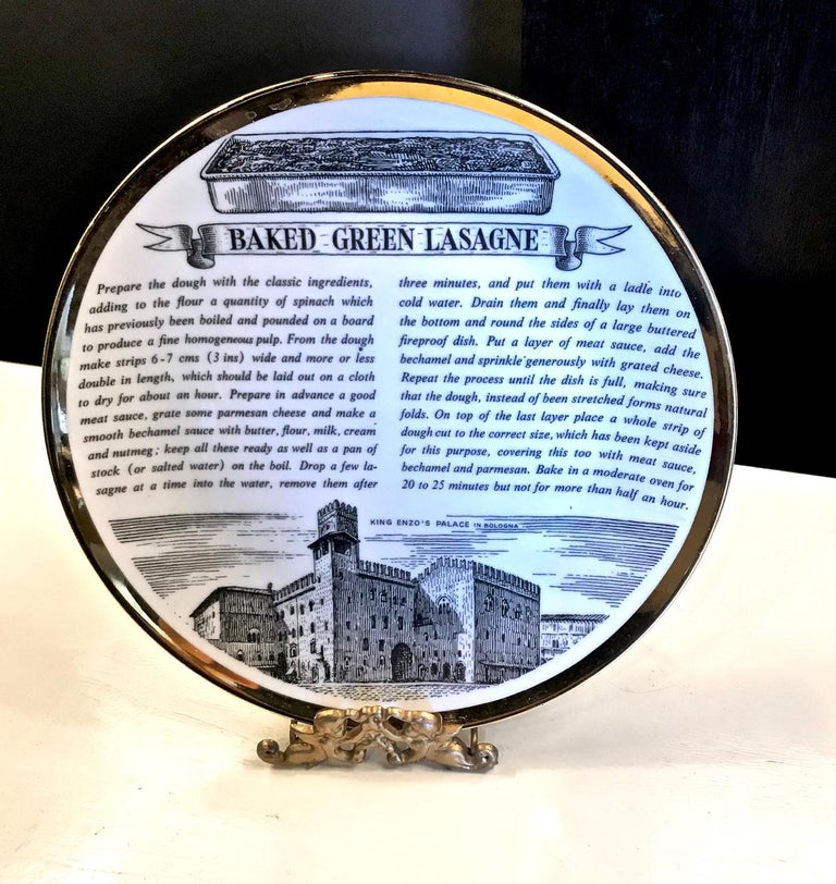 Fornasetti Recipe Plates, Set of Eight For Sale 1