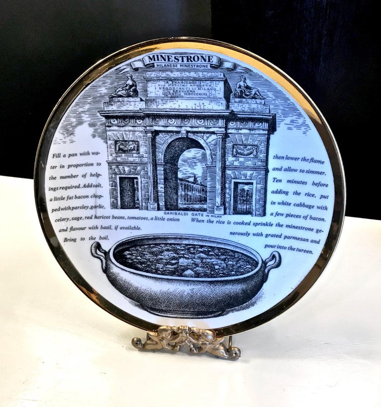 Fornasetti Recipe Plates, Set of Eight For Sale 2