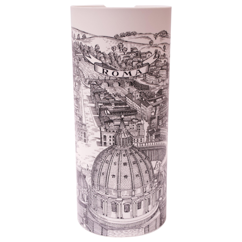 "Fornasetti ""Roma"" Table Lamp Produced by Antonangeli"
