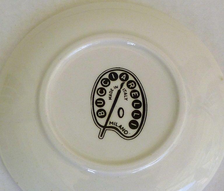 Fornasetti Set of 8 Decorated Porcelain Love Coasters One Bucciarelli, Italy 7