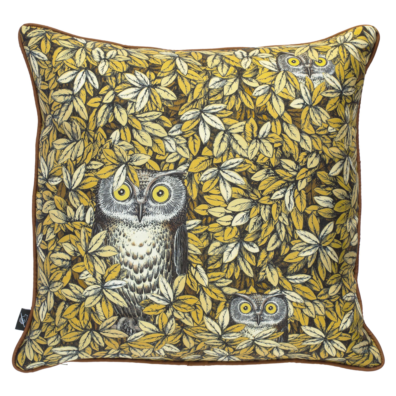Fornasetti Silk Cushion Civette Owls