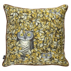 Fornasetti Silk Cushion Civette Owls
