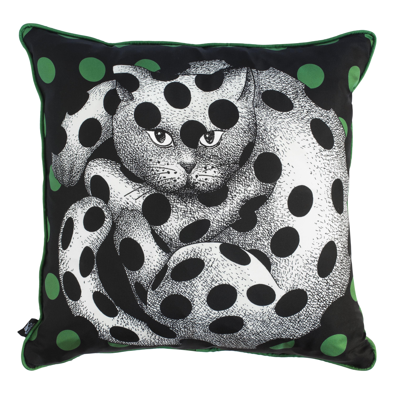 Fornasetti Silk Cushion High Fidelity Cat