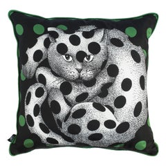 Fornasetti Silk Cushion High Fidelity Cat