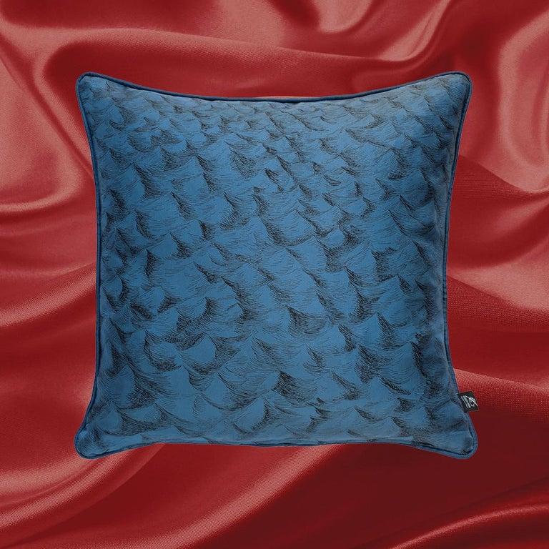 Italian Fornasetti Silk Cushion Polipo Octopus For Sale
