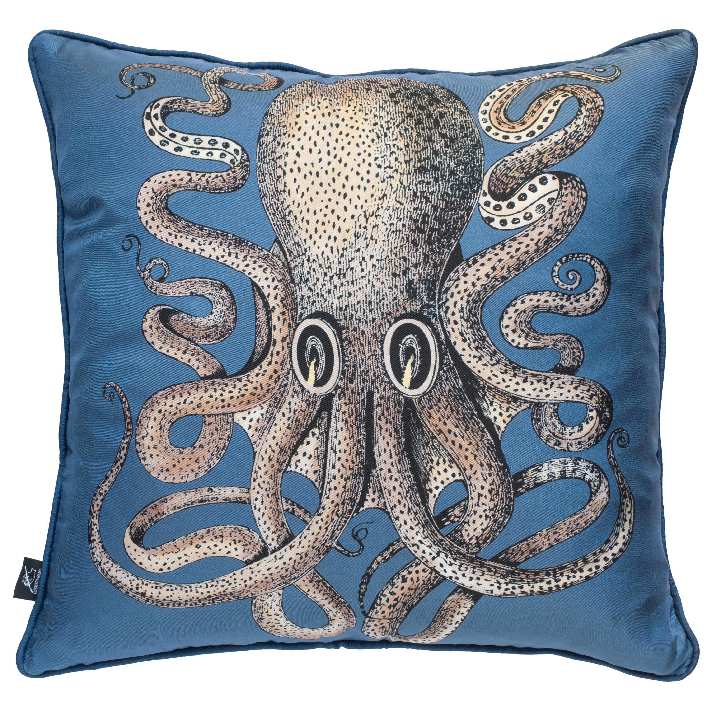 Fornasetti Silk Cushion Polipo Octopus