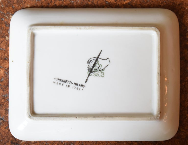 Ceramic Fornasetti Skeleton Key Dish For Sale