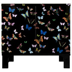 Fornasetti Small Sideboard Rectangular Base Farfalle Butterflies Handcoloured