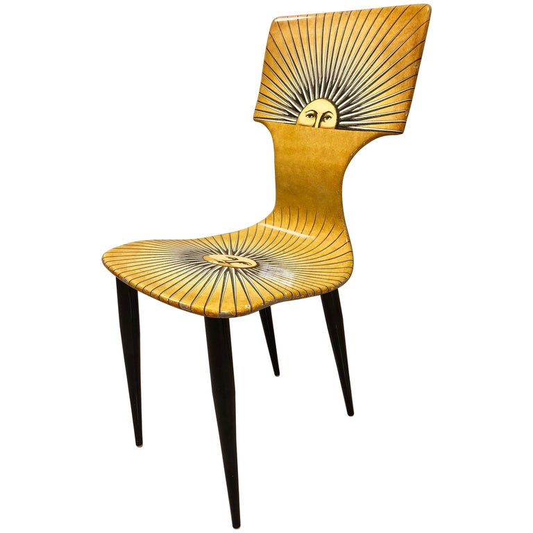 "Fornasetti ""Sole"" Chair For Sale"