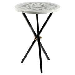 Fornasetti Table Cortile Architectural Motif Tripod Black Base