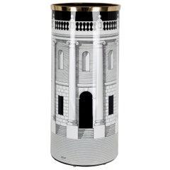 Fornasetti Umbrella Stand Casa Con Colonne Architectural Motif Black and White