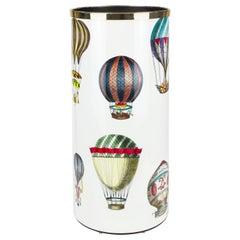 Fornasetti Umbrella Stand Palloni Hot-Air Balloons Handcolored on White